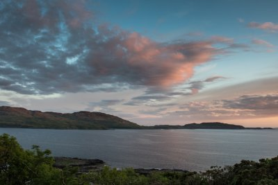 The view from Cuan at sunset