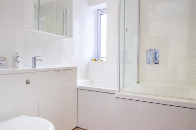 Contemporary bathroom with quality sanitary ware