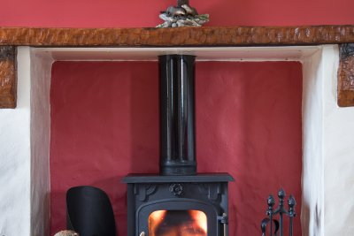 Multi fuel stove is great for cosy evenings
