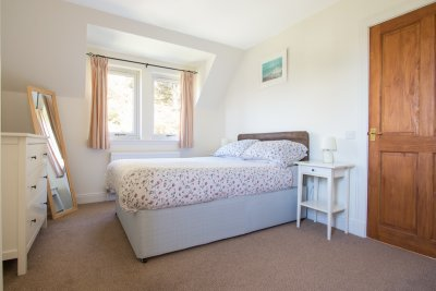 Double bedroom at Puffin Cottage