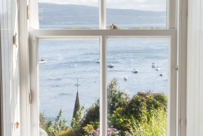 Great sea views from the cottage