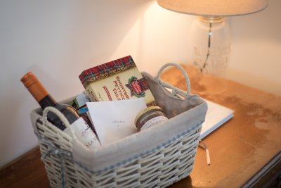 Welcome hamper in the cottage
