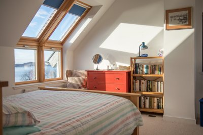Double ensuite bedroom with excellent sea views
