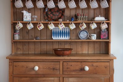 Dresser with selection of crockery