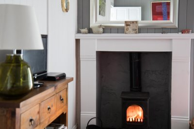 Cosy stove in the living room