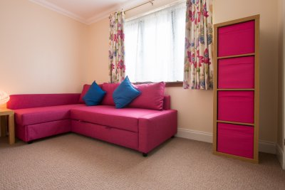 Spare bedroom with folding double bed