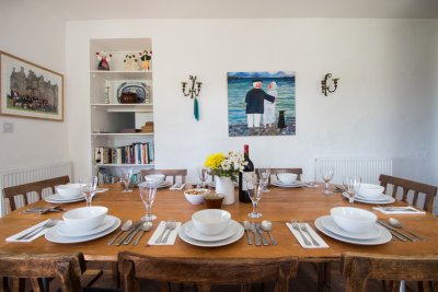 Dining table in the kitchen at Tigh na Caora