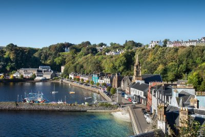 Tobermory as you walk into town from the house