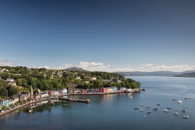 Tobermory with Ulva House in a commanding position