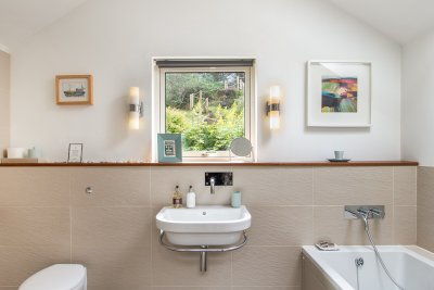 Beautifully appointed, modern bathroom