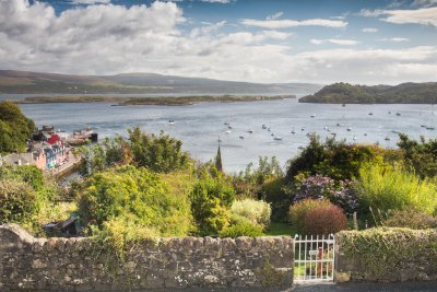 Stunning view from the bedroom in Seabrae Cottage