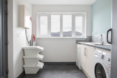 Useful utility room for guests