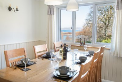 Dining table and sea views