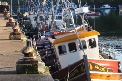 Fishing boats by the pier in Tobermory