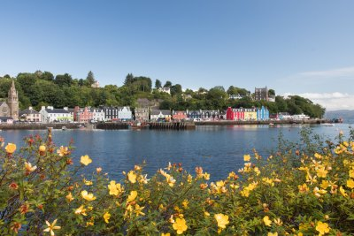 Tobermory, the main town in Mull, is a thirty minute drive from the house