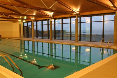Swimming pool at the Isle of Mull hotel (ten minute walk)