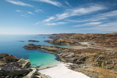 The south western coastline of Mull where you will find some stunning beaches