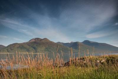 Loch na Keal and the Ben More mountains in central Mull