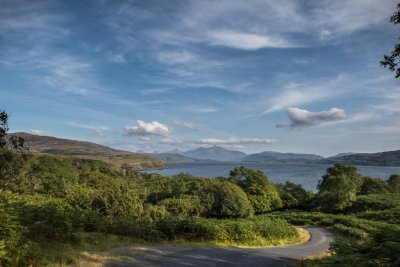 Road winding along the north west coast of Mull