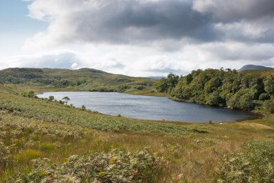 Loch Glennain, a short walk from the cottages