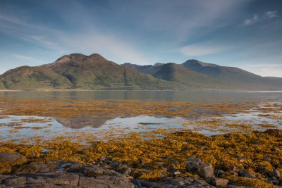 The Ben More range from across Loch na Keal