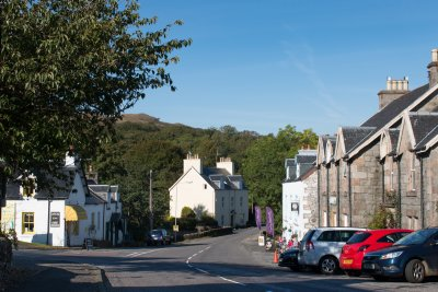 Salen village five minutes drive away