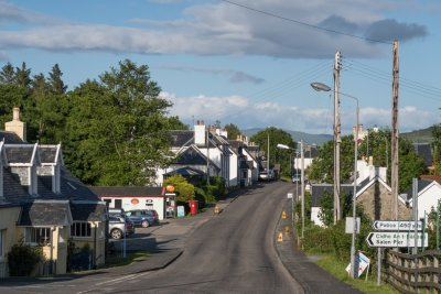 Village of Salen, a short drive from the cottages