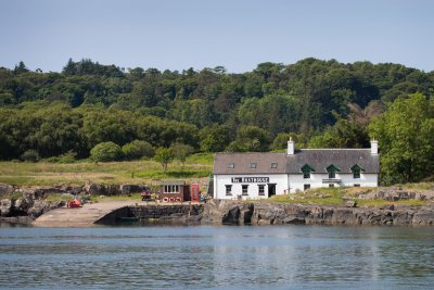 Nearby Ulva and the Boathouse cafe