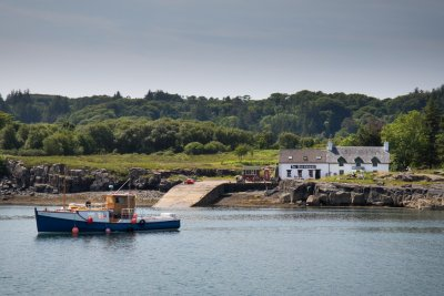 Have lunch at The Boathouse on the Isle of Ulva nearby