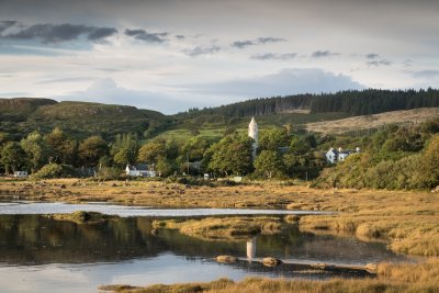 Dervaig village is 9 miles from the cottage