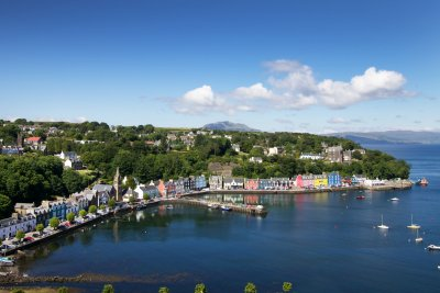 Tobermory is a twenty minute drive away