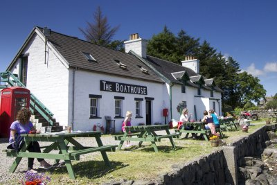 Boathouse restaurant on the Isle of Ulva