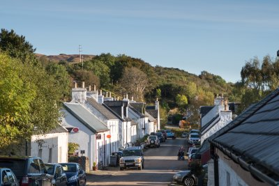 The village of Dervaig is a fifteen minute drive away