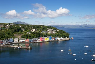 Tobermory, the main island town, is a 45 minute drive north