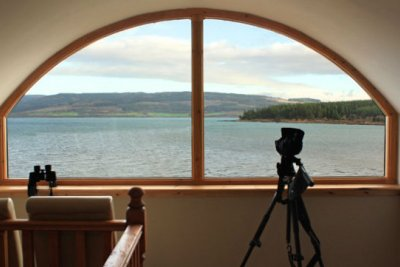 Lovely view over Fishnish bay - a good lookout for eagles and otters