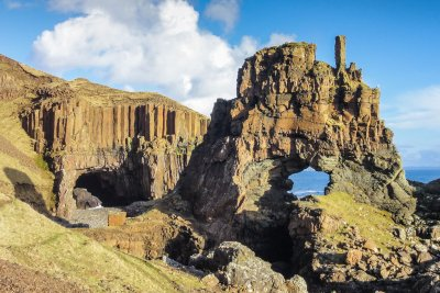 The Carsaig arches on the Isle of Mull