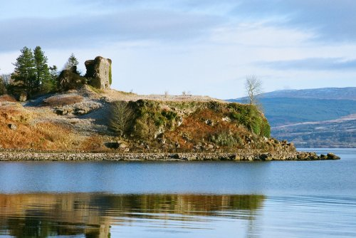 Aros Castle across the water
