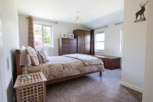 King sized double bedroom with ensuite on the ground floor