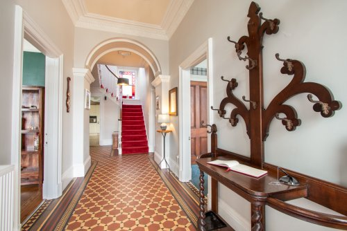 Impressive entrance hallway with original features