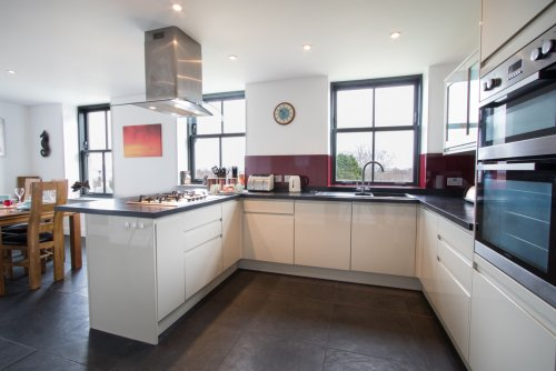 Modern and well appointed kitchen with lovely views