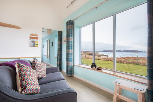 Exceptional sea views from the open plan living area