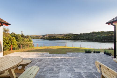 The stunning patio, a suntrap and wildlife observation point!