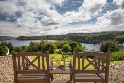 Make the most of the views at Ulva House. Outdoor seating outside the apartment