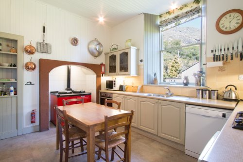 The kitchen in Craig Ben Lodge