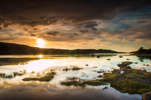 Loch Cuin at sunset