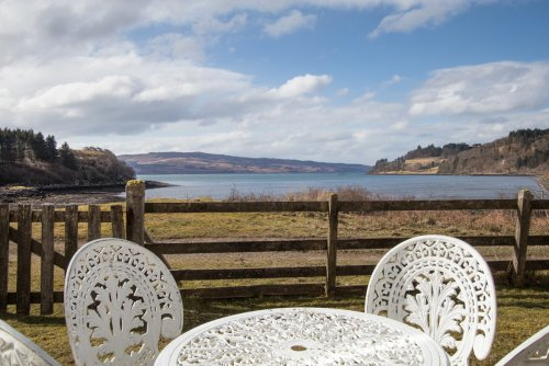 A wonderful view from the table and chairs in the garden area