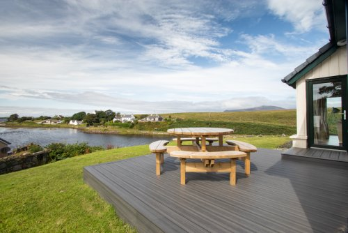 Decking with great sea views