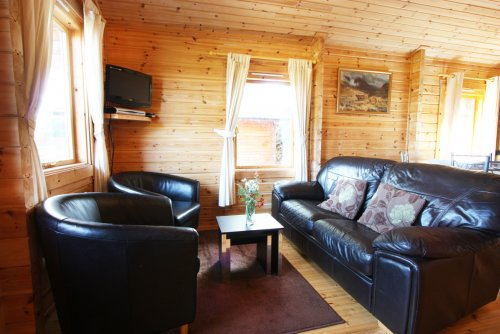 Fors Lodge living area (open plan with kitchen)