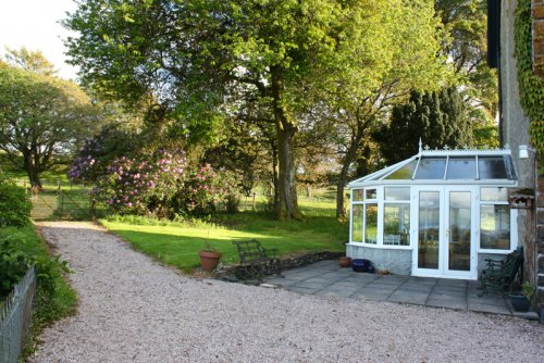 Driveway, garden and conservatory