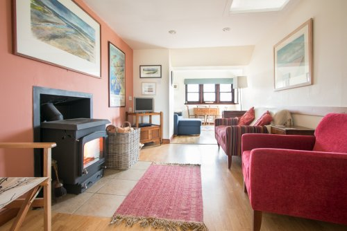 Keills Cottage living area